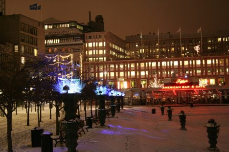 Christmas lighting in Kungsträdgården, Stockholm